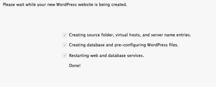 Creado nuevo sitio web wordpress local desktopserver - dinapyme