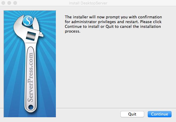 Instalacion de DesktopServer
