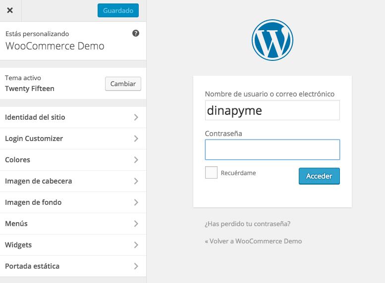 Personalizar la pantalla de acceso de WordPress con Custom Login Page Customizer