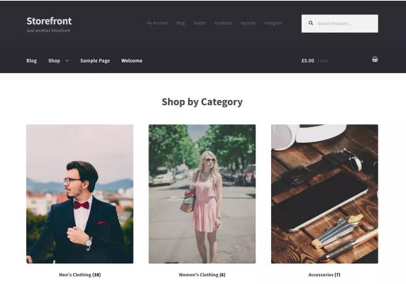 Tema Storefront para woocommerce - dinapyme