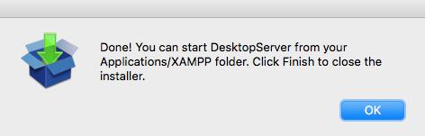finalizacion instalacion desktopserver