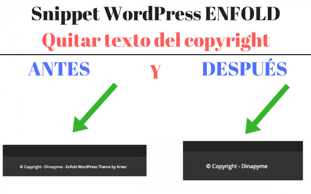 "WordPress Snippet: Quitar el texto ""Enfold WordPress Theme by Kriesi"" del footer del tema Enfold"
